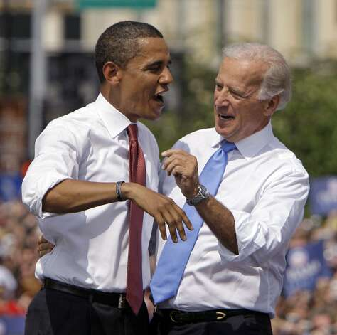 President Barack Obama and Vice President Joe Biden are indulging in dirty politics despite their 2008 message of changing the nation's mud-mired political culture.   (AP Photo/M. Spencer Green, File) Photo: M. Spencer Green, Associated Press / AP