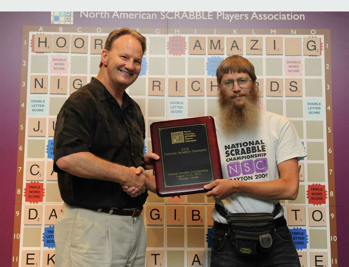 Following up on the Summer Olympics, Nigel Richards (right) won a record fourth title (and third in a row) at the 2012 National Scrabble Championship. Richards is shown after his victory with Chris Cree, co-president of North American Scrabble Players Association. The title comes with a $10,000 prize. Also Wednesday came news that one of the top young Scrabble players in the U.S. was ejected from the national championship after he was caught hiding blank letter tiles. All of this got us wondering about other less-than-mainstream game competitions. Click on to see what we found.