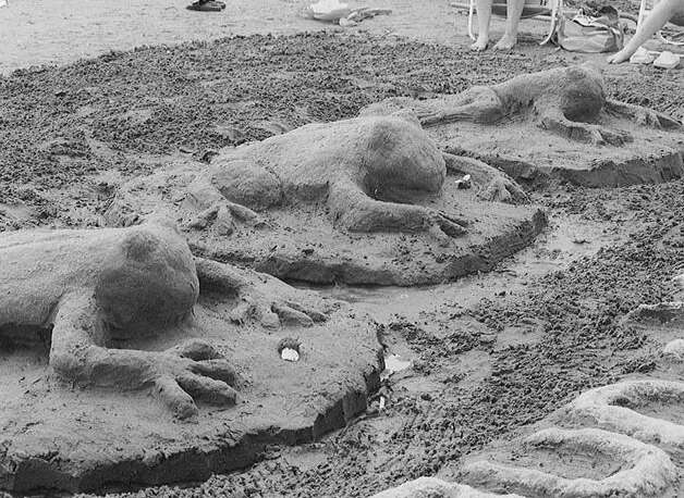 A favorite with fans at a past Great American Sand Sculpture Competition, in Milford, was this grouping of frogs. This year's event, weather permitting, will take place on Saturday, Aug. 25. Photo: Contributed Photo / CT