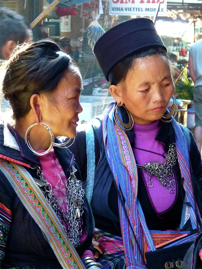 """Jeanette Young-Pertz's """"Vietnam Highlands Market Day."""" Photo: Contributed Photo"""
