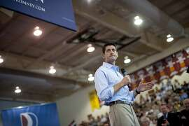 NORTH CANTON, OH - AUGUST 16: Republican vice presidential candidate U.S. Rep. Paul Ryan (R-WI) speaks at a campaign event at Walsh  University on August 16, 2012 in North Canton, Ohio. Ryan is campaigning in the battleground state of Ohio after being named as the vice presidential candidate last week by Republican presidential hopeful Mitt Romney. (Photo by Jeff Swensen/Getty Images) *** BESTPIX ***