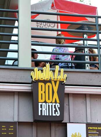 Box Frites at The Post at Saratoga Race Course Wednesday Aug. 15, 2012. (John Carl D'Annibale / Times Union) Photo: John Carl D'Annibale / 00018831A
