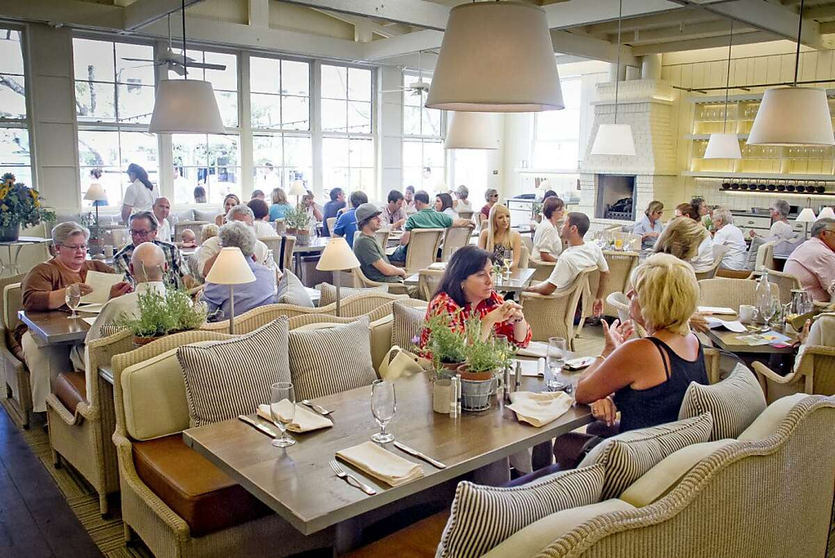 The interior of French Blue restaurant in St. Helena, Calif., is seen on Friday, August 10th, 2012.