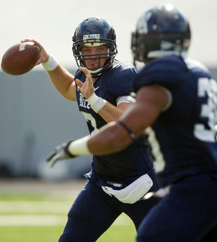 After starting his career at Alabama, Churchill grad Nick Fanuzzi played the past three seasons at Rice. He completed 60.4 percent of his passes (425 of 704) for 4,402 yards with 29 TDs and 19 interceptions for the Owls. Last year, he joined the Rice record book as the third quarterback in school history to surpass 400 yards with 405 in a 41-37 victory over UTEP. The other two Rice QBs to hit the 400-yard mark are also San Antonians -- Tommy Kramer and Chase Clement.