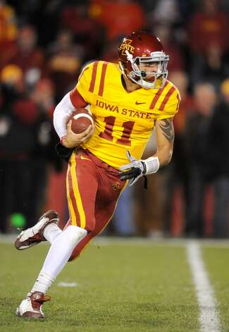 Now a wide receiver after sitting out a year at Iowa State, Lee graduate Jerome Tiller has two starts for the Cyclones and one was a big one. He led Iowa State to a 9-7 victory over Nebraska in 2009. He threw for 739 yards and two TDs from 2009-10.