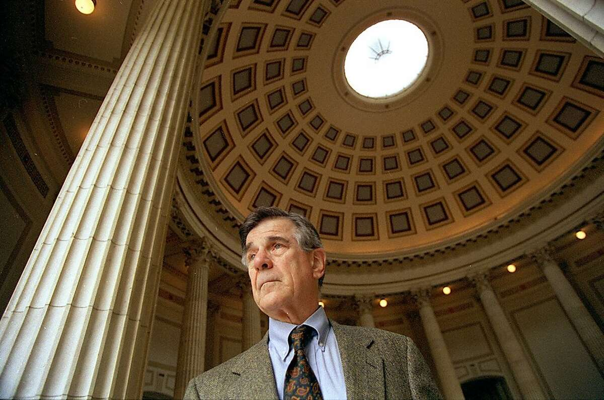 NEEDLES STARK 1/C/19MAR98/CD/CS - Fremont Congressman Pete Stark pauses in the rotunda of the capitol building in Washington, D.C. Stark is sponsoring legislation requiring the nationwide use of safety needles and syringes. SAN FRANCISCO CHRONICLE PHOTO BY CHRIS STEWART ALSO RAN 07/29/03