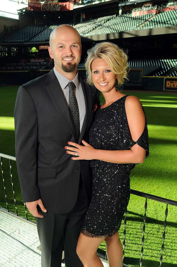 Scott and Meghan Moore at the Astros Wives' Gala. (Dave Rossman / For the Houston Chronicle)