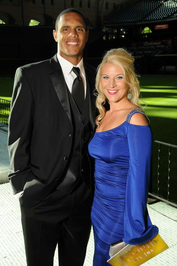 Justin and Loren Maxwell at the Astros Wives' Gala. (Dave Rossman / For the Houston Chronicle)
