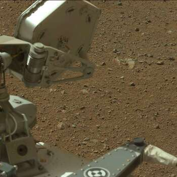 "This image released by NASA August 9, 2012 shows a view AFP PHOTO/HANDOUT/ NASA/JPL-Caltech/Malin Space Science Systems taken by Mastcam: Left (MAST_LEFT) onboard NASA's Mars rover Curiosity on Sol 3 (2012-08-09 05:54:41 UTC) . The view shows the gravelly Martian surface under Curiosity.                       = RESTRICTED TO EDITORIAL USE - MANDATORY CREDIT "" AFP PHOTO / NASA/JPL-Caltech/Malin Space Science Systems  "" - NO MARKETING NO ADVERTISING CAMPAIGNS - DISTRIBUTED AS A SERVICE TO CLIENTS =HO/AFP/GettyImages Photo: HO, AFP/Getty Images / AFP"