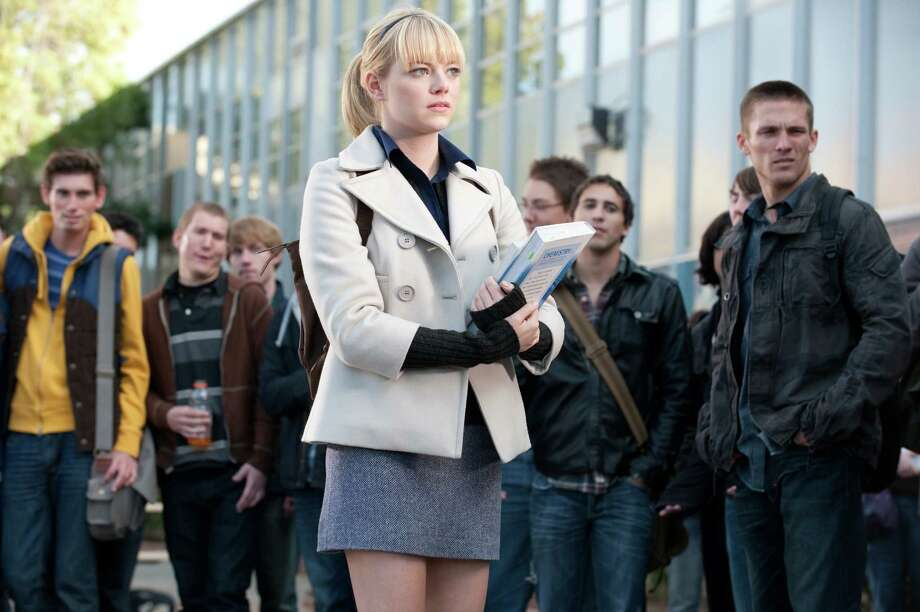 Gwen Stacy, while not a superhero, dies in the Spider-Man comics and her death has lasting implications.  Photo: Columbia Pictures / © 2012 Columbia Pictures Industries, Inc.  All Rights Reserved. **ALL IMAGES ARE PROPERTY OF SONY PICTURES ENTERTAINMENT INC. F