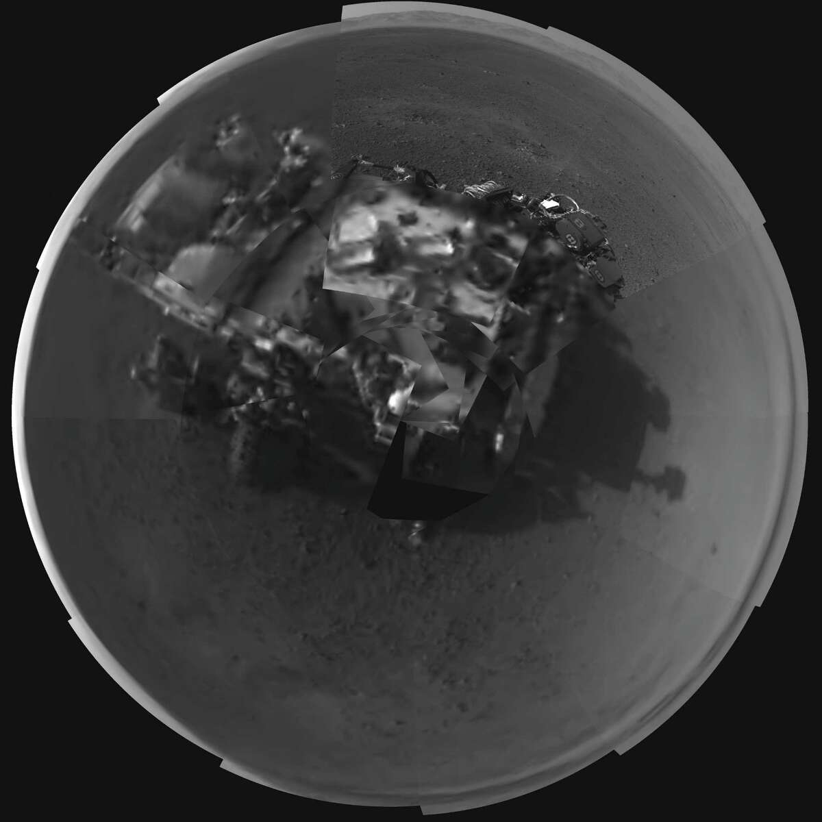But, really, the Curiosity rover is the big vehicle in the news. Here's a composite self portrait of the vehicle that NASA released on Aug. 8, 2012.