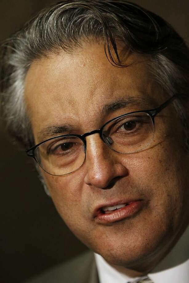 Ross Mirkarimi speaks to reporters in San Francisco in April. Photo: Sarah Rice, Special To The Chronicle