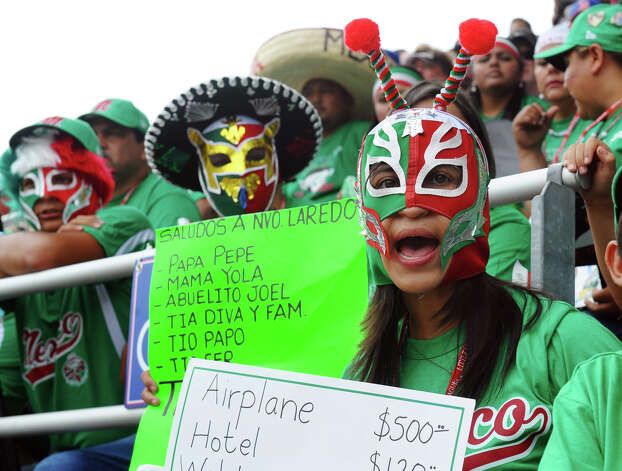 Fans of Mexico cheer their team on as they play Canada, at the Little Leauge World Series in South Williamsport, Penn. on Friday August 17, 2012. Photo: Christian Abraham / Connecticut Post