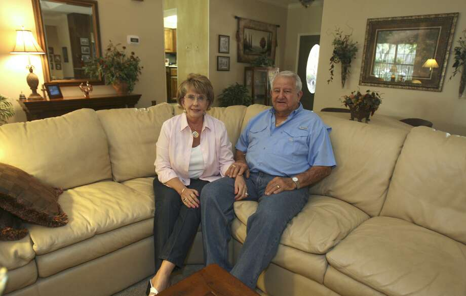 Rex and Barbara Kelsey pose for a portrait in their home Tuesday Aug. 14, 2012 in the Deerfield neighborhood. (San Antonio Express-News)