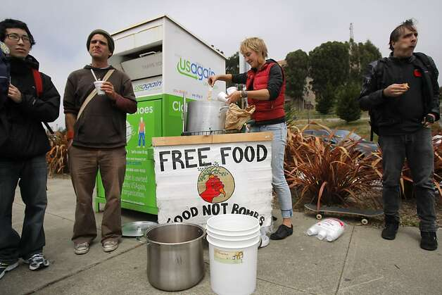 Jane Stitt is seen serving free Vegan soup at a rally at the City College of San Francisco on Wednesday, August 15, 2012 in San Francisco, Calif. Photo: Megan Farmer, The Chronicle