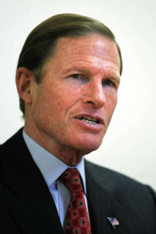 Senator Richard Blumenthal, Bridgeport, Conn. Jan. 19th, 2012. Photo: Ned Gerard