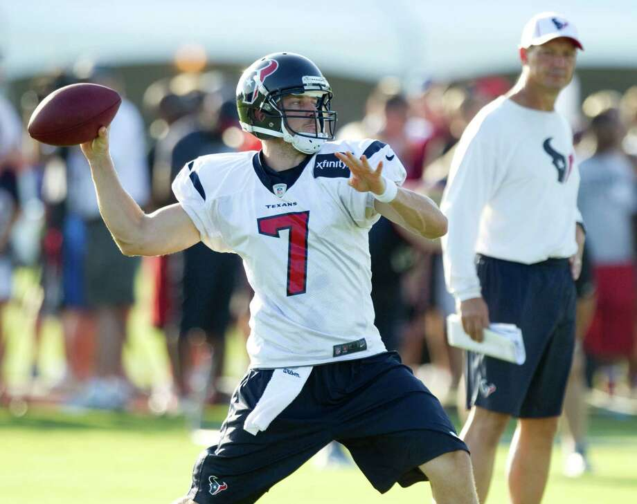 Rookie Case Keenum will get some extended playing time tonight in front of the Texans' home crowd. Photo: Brett Coomer, Houston Chronicle / © 2012 Houston Chronicle