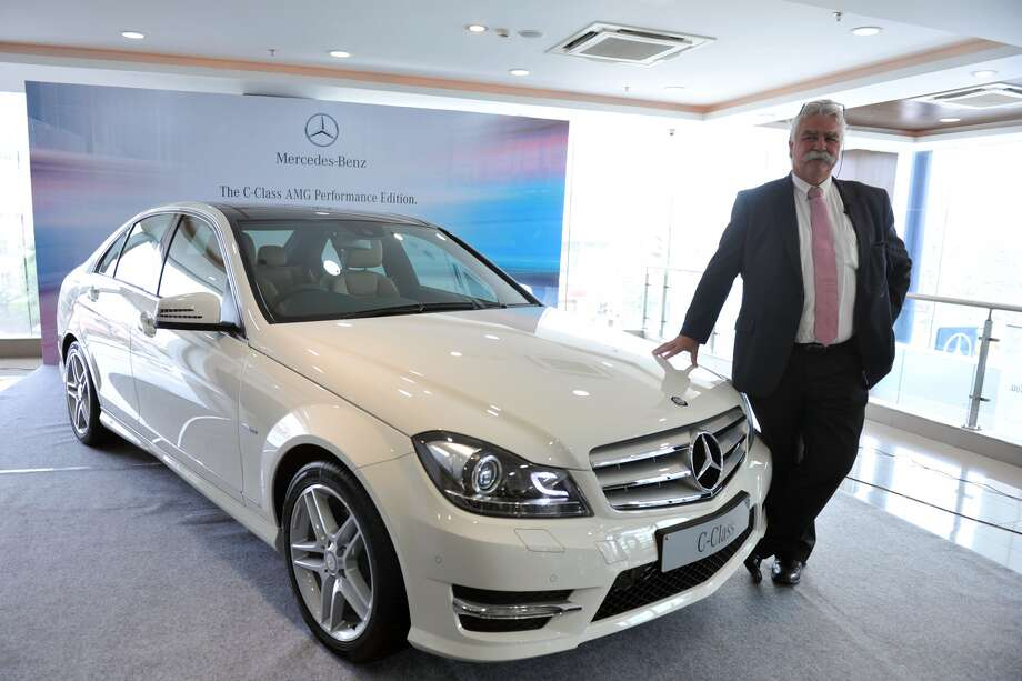 """Mercedes C Class: Poor. """"The driver's space was seriously compromised by intruding structure.  Footwell intrusion measured as much as 32 cm at the footrest and the  instrument panel intruded more than 10 cm. The driver dummy's foot was  trapped beneath the brake pedal, and the pedal had to be cut off to free  the foot."""" Photo: NOAH SEELAM/AFP/GettyImages"""