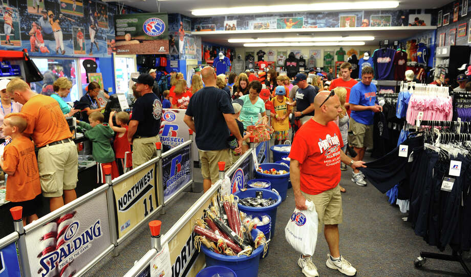 Brisk business is happening at the gift shop at the Little Leauge World Series in South Williamsport, Penn. on Friday August 17, 2012. Photo: Christian Abraham / Connecticut Post
