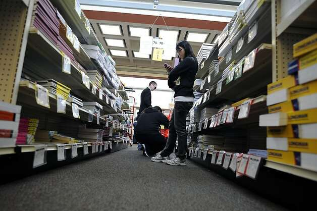 Students shop for textbooks in the campus bookstore at City College of San Francisco on Friday August 17th, 2012 Photo: Michael Short, Special To The Chronicle