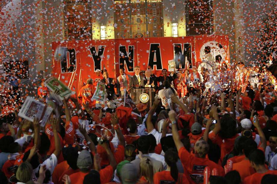 In their first two seasons in Houston, the Dynamo won back-to-back MLS championships. Photo: Carlos Antonio Rios / Houston Chronicle