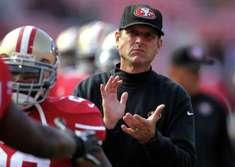 San Francisco 49ers head coach Jim Harbaugh prepares his team to face the Minnesota Vikings in a preseason exhibition game Friday August 10, 2012 in San Francisco Calif. Photo: Lance Iversen / ONLINE_YES
