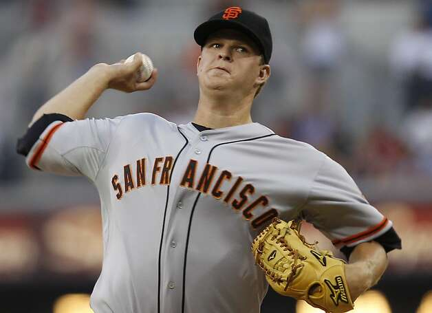 Matt Cain allowed four hits in eight innings, striking out six with no walks. Photo: Lenny Ignelzi, Associated Press