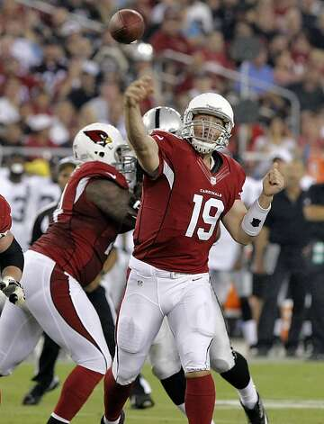 Arizona Cardinals quarterback John Skelton (19) throws against the Oakland Raiders during the first half of a preseason NFL football game, Friday, Aug. 17, 2012, in Glendale, Ariz. (AP Photo/Rick Scuteri) Photo: Rick Scuteri, Associated Press