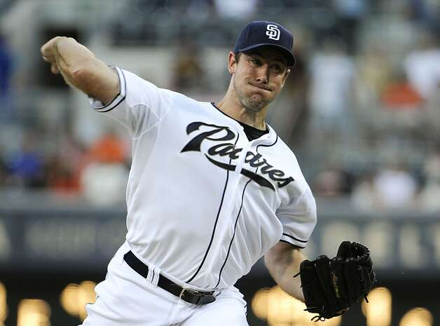SAN DIEGO, CA - AUGUST 17: Ross Ohlendorf #59 of the San Diego Padres pitches during the first inning of a baseball game against the San Francisco Giants at Petco Park on August 17, 2012 in San Diego, California. (Photo by Denis Poroy/Getty Images) Photo: Denis Poroy, Getty Images