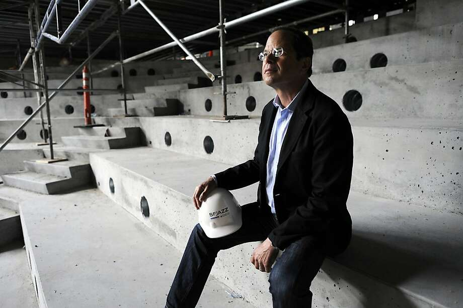 Executive Director Randall Kline at the site of the new SFJazz Center at Fell and Franklin streets. Photo: Michael Short, Special To The Chronicle