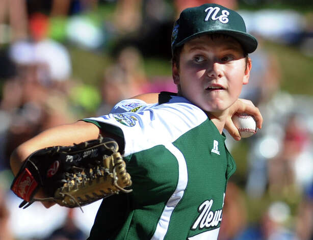 New England's Matt Kubel went on to pitch a shutout, during 2012 Little League World Series game action against Midwest in South Williamsport, Penn. on Saturday August 18, 2012. Photo: Christian Abraham / Connecticut Post