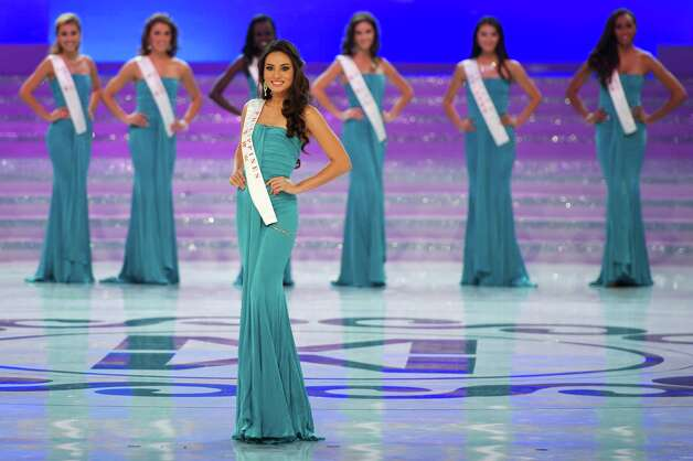 Miss Philippines Quenerich Rehman parades during the Miss World 2012 final ceremony. Photo: ED JONES, AFP/Getty Images / 2012 AFP