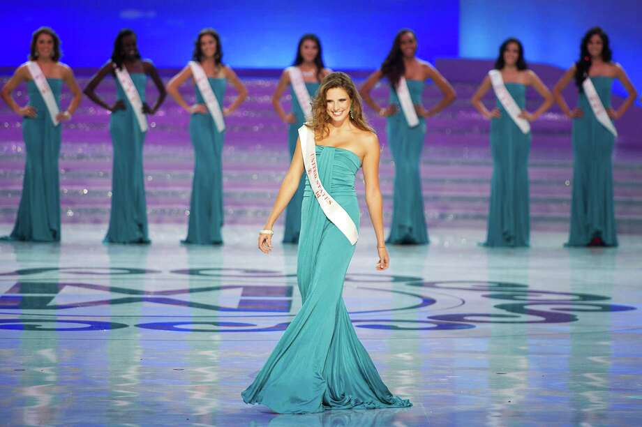 Miss United States Claudine Book parades during the Miss World 2012 final ceremony. Photo: ED JONES, AFP/Getty Images / 2012 AFP