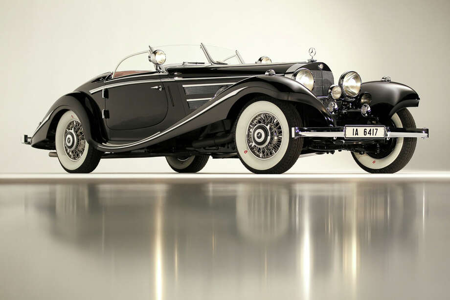 After four decades in storage in Greenwich, and roughly 20 years after its rediscovery, the 1936 Mercedes-Benz 540K Special Roadster will be auctioned off following the prestigious Pebble Beach Concours díElegance car show Sunday, Aug. 19, 2012, in California. One of roughly a dozen left in the world, the vehicle is considered a triumph of automotive perfection. (Mathieu Heurtault, Gooding & Co. / June 13, 2012) Photo: Contributed Photo