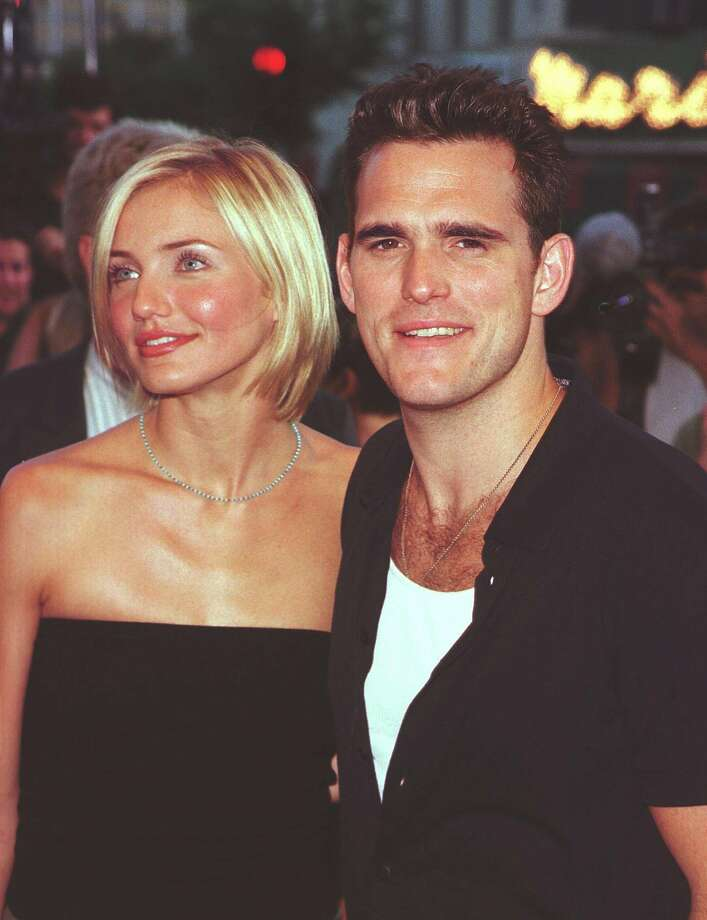 "Cameron Diaz and Matt Dillon were once a hot couple in the '90s, when they filmed ""There's Something About Mary."" They're pictured in 1998.   (AFP/Getty Images)"