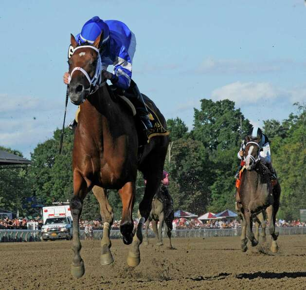 Questing ridden by jockey Irad Ortiz Jr. significantly outdistanced the field to win the 132nd runni