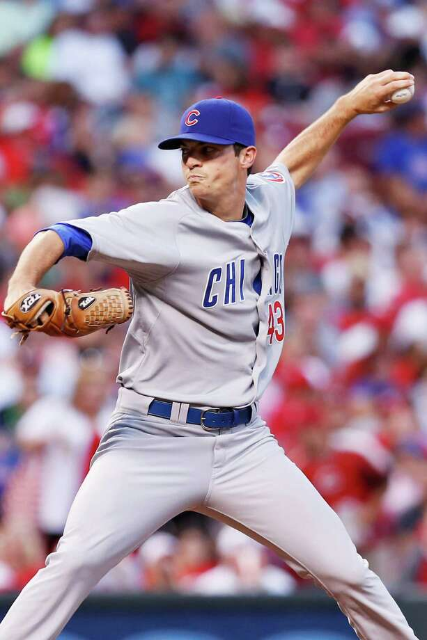 Uvalde and Texas A&M product Brooks Raley earned his first major-league win Saturday for the Cubs. Photo: Joe Robbins, Getty Images / 2012 Getty Images
