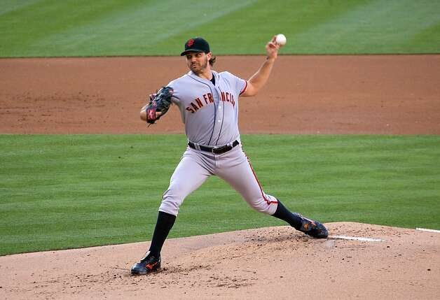 SAN DIEGO, CA - AUGUST 18 - Barry Zito #75 of the San Francisco Giants looses his grib on the ball as he throws a pitch in the 1st inning of the game against the San Diego Padres at Petco Park on August 18, 2012 in San Diego, California. (Photo by Kent C. Horner/Getty Images) Photo: Kent Horner, Getty Images