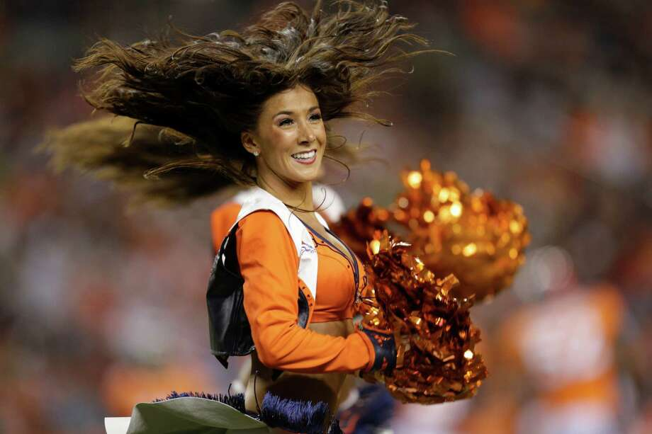 The Denver Broncos cheerleaders perform. Photo: AP
