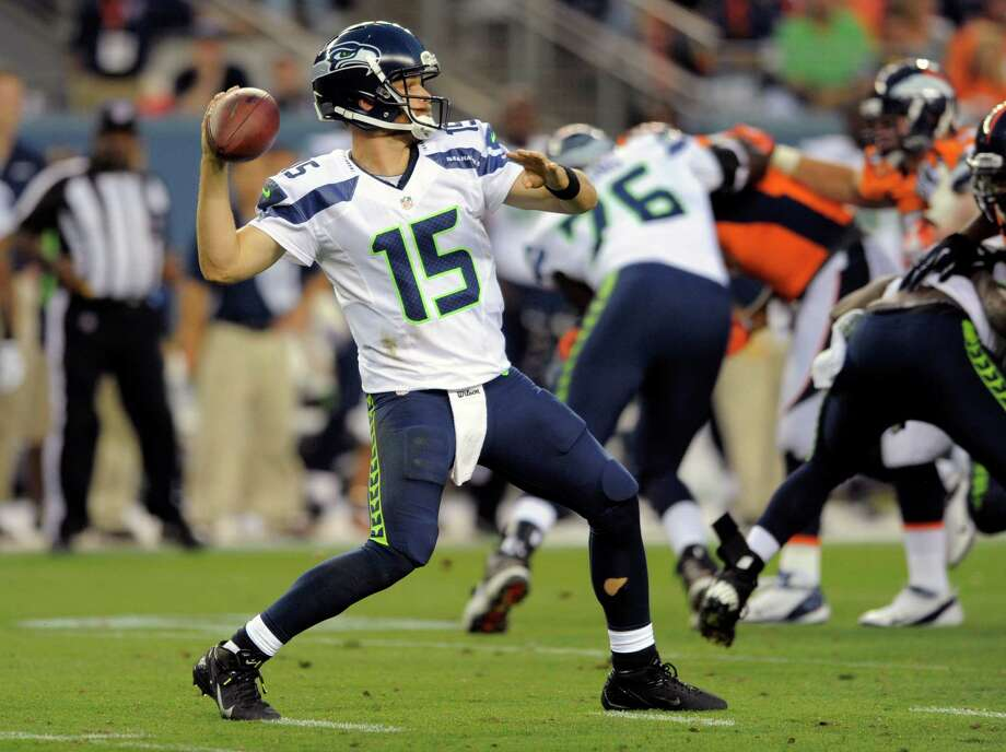 Seattle Seahawks quarterback Matt Flynn throws against the Denver Broncos. Photo: AP