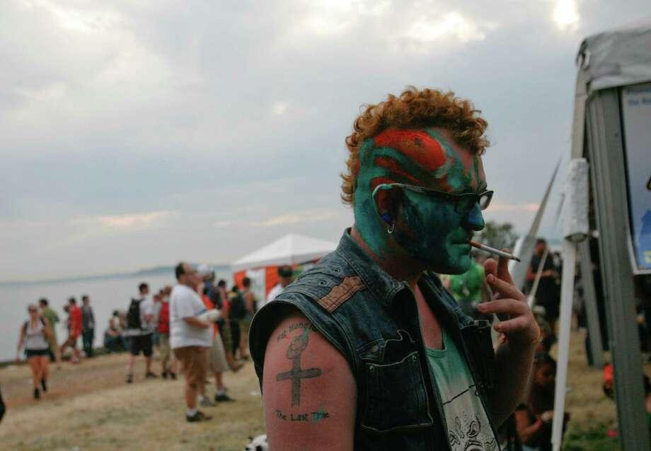 Jordan Masters takes a drag from his cigarette. Photo: Sofia Jaramillo / SEATTLEPI.COM