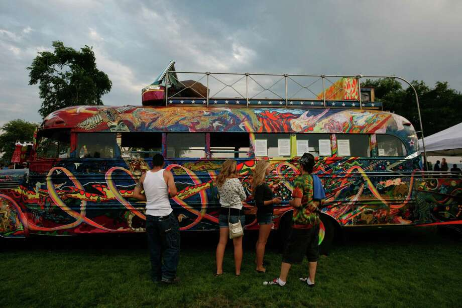 A colorful hippie bus is shown. Photo: Sofia Jaramillo / SEATTLEPI.COM