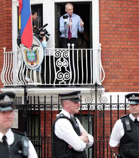 WikiLeaks founder Julian Assange is living inside the Ecuador embassy in London. Ecuador granted Assange political asylum while he faces extradition to Sweden. Photo: Rosie Hallam, Getty Images / 2012 Getty Images