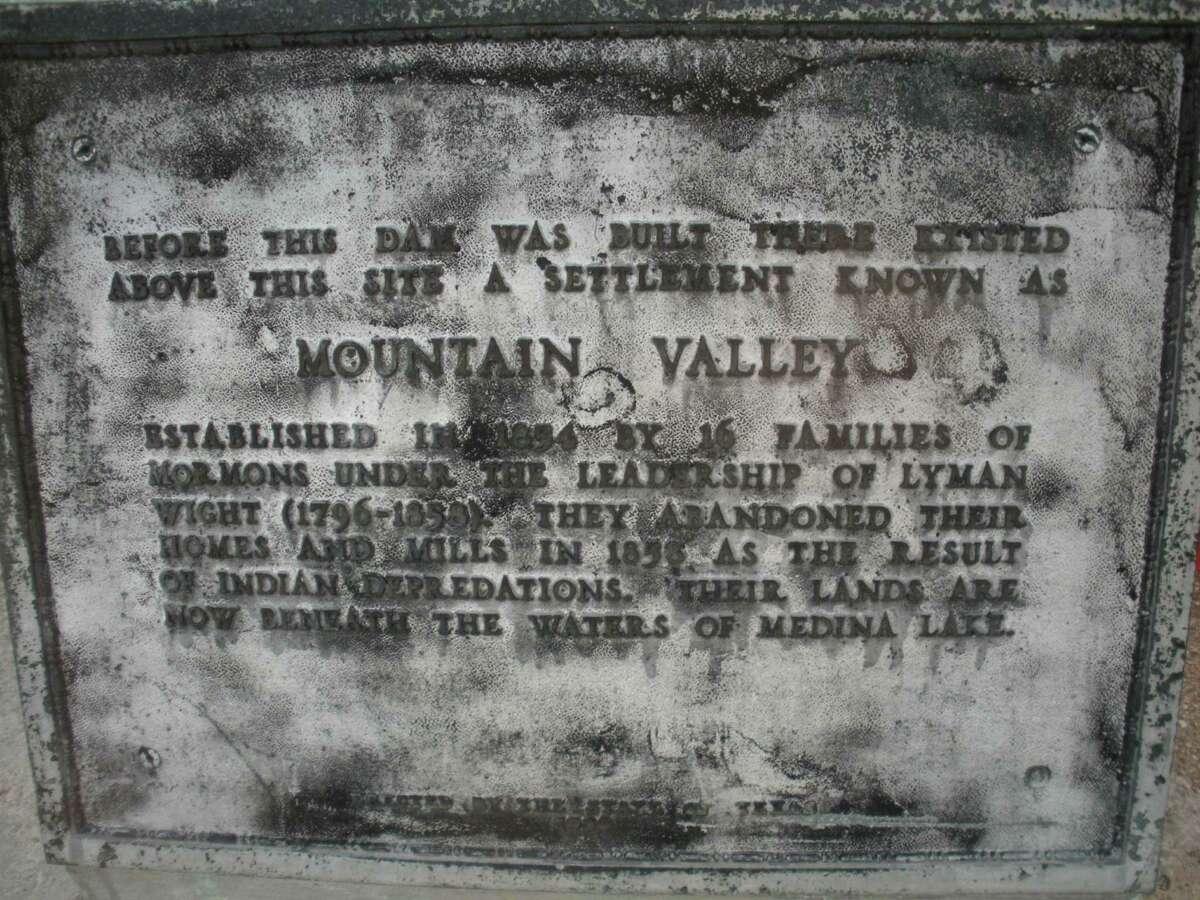 Mountain Valley is a Mormon settlement before the Medina dam was built. Courtesy photo/Medina Lake Preservation Society