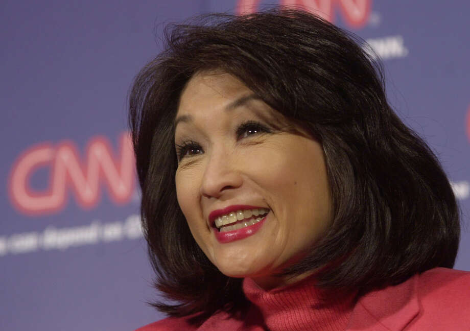 File photo - Veteran TV journalist Connie Chung smiles during a CNN news conference Jan. 23, 2002, in New York. Photo: SUZANNE PLUNKETT