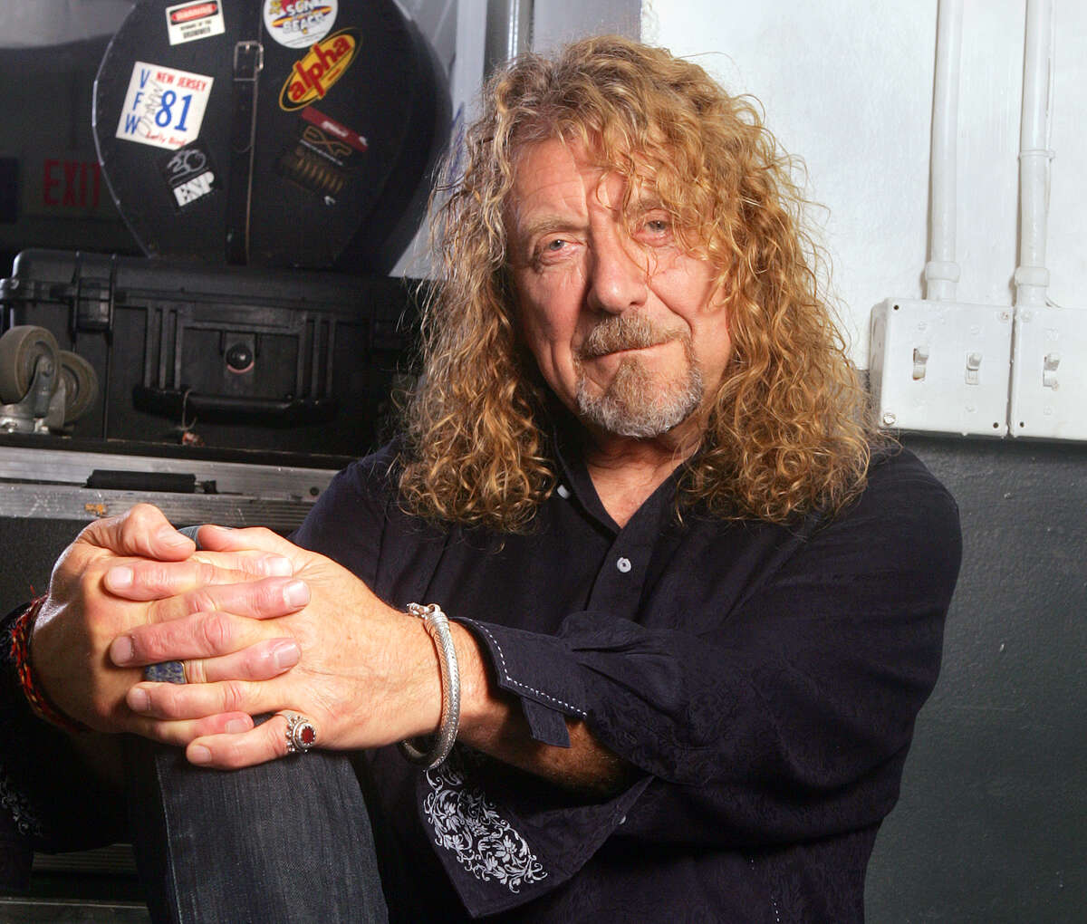 This July 30, 2010 file photo shows singer Robert Plant posing at Bayfront Amphitheatre in Miami. Plant dined at Osteria Stellina in Pointe Reyes Station this week.