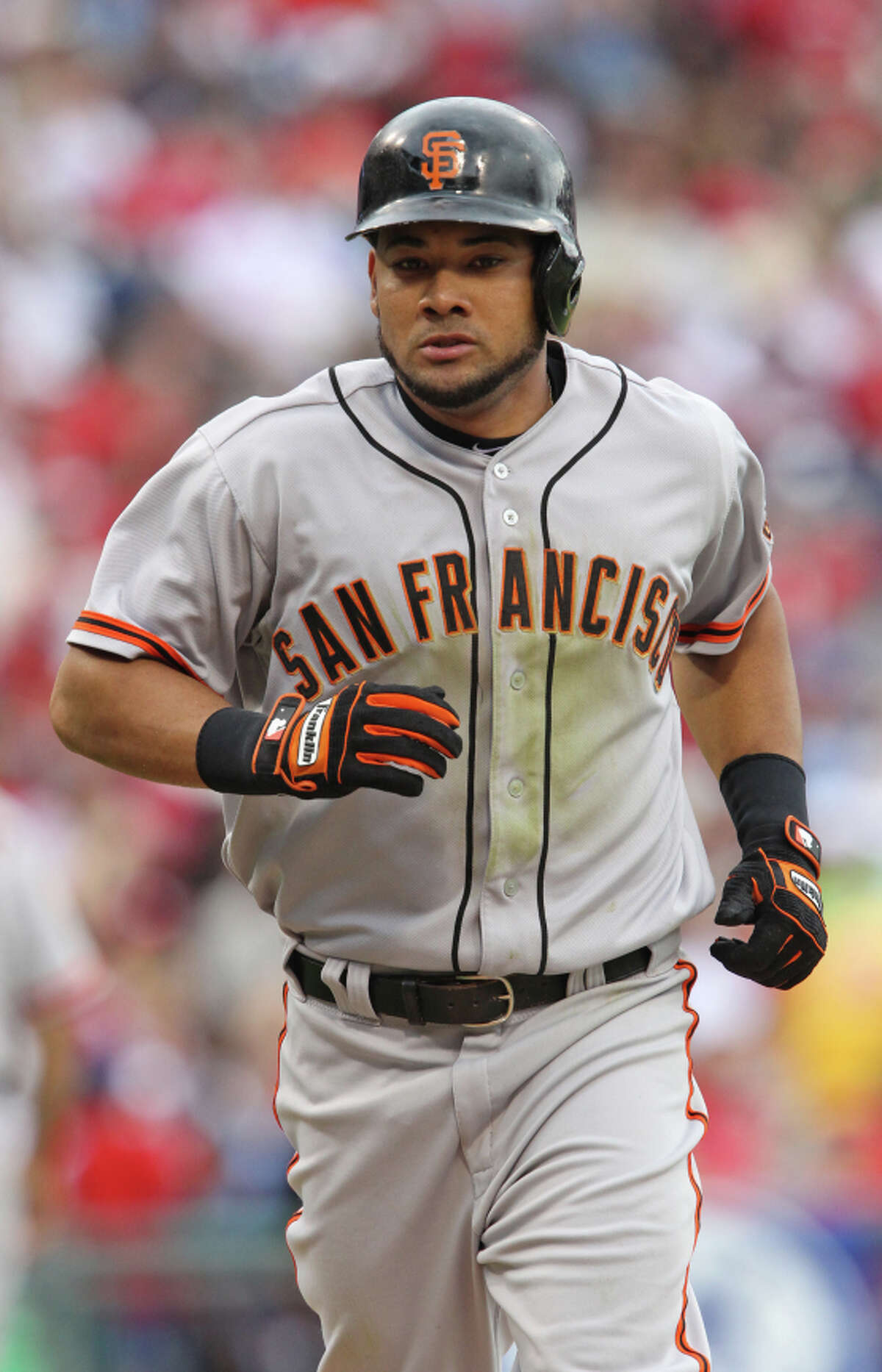 Outfielder Melky Cabrera, who played for the Giants in 2012, received a 50-game suspenion that year for a violation of Major League Baseball's drug policy.