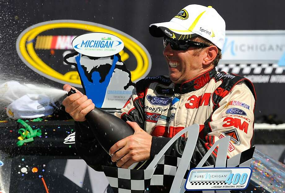 Greg Biffle's victory at Michigan put him atop the Sprint Cup points standings. Photo: Jared C. Tilton, Getty Images