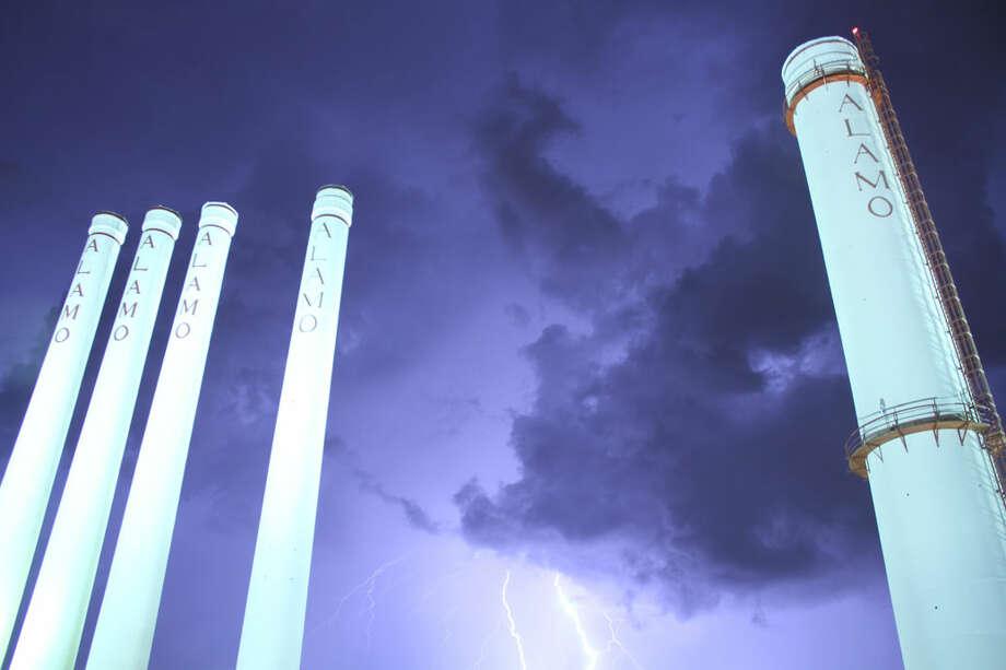 Lightning Saturday night, Aug. 18, 2012, in San Antonio. Photo: Courtesy