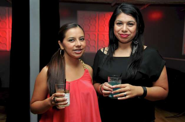 Rocio Ortiz and Chrishna Vela  are having a drink at Club Space.